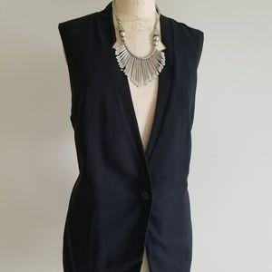 Belle sky black tuxedo vest